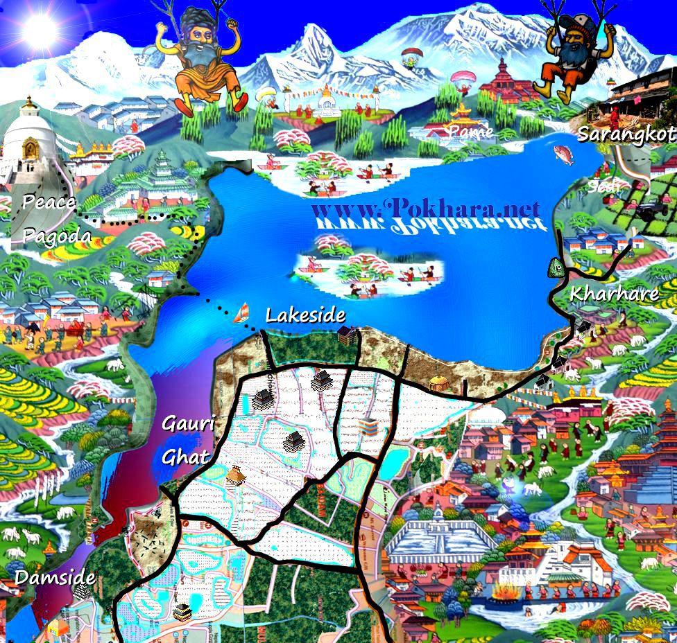 Pokhara_Lakeside_map